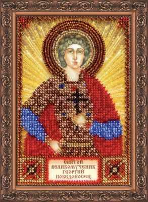 ААМ-053 Набор для вышивания бисером икона Св. Георгий