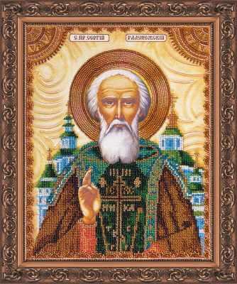 АА-012 Набор для вышивания бисером икона Св. Сергей