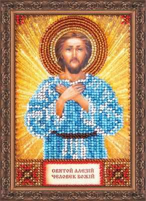 Набор для вышивания иконы Абрис Арт ААМ-003 Набор для вышивания бисером икона Св. Алексей