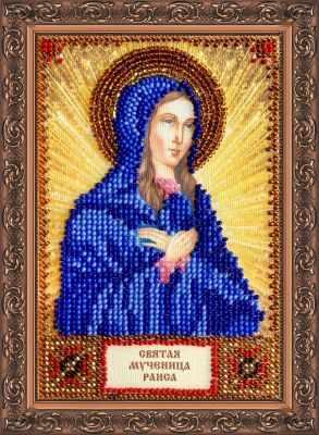 Набор для вышивания иконы Абрис Арт ААМ-068 Набор для вышивания бисером икона Св. Раиса