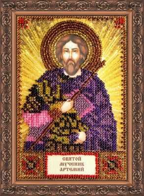 Набор для вышивания иконы Абрис Арт ААМ-069 Набор для вышивания бисером икона Св. Артемий