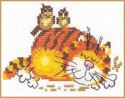 Фото - Набор для вышивания Алиса 0-001 Ленивый кот ленивый кот