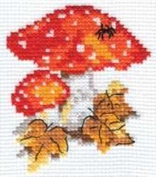 Набор для вышивания Алиса 0-048 Мухоморчики