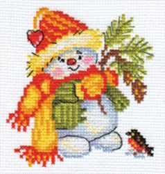 Набор для вышивания Алиса 0-059 Снеговичок
