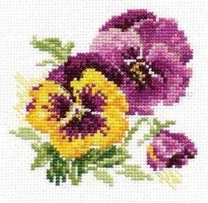 Набор для вышивания Алиса 0-081 Анютины глазки