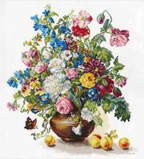 2-23 Поэзия цветов:Благоухание лета - Наборы для вышивания «Алиса»