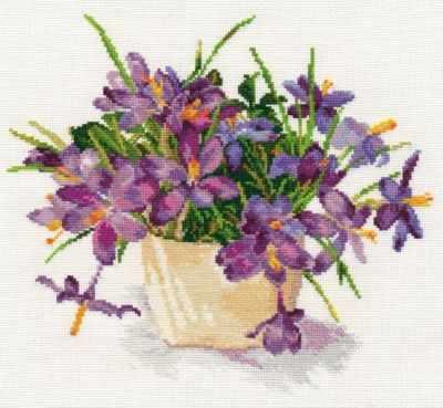 2-26 Цветущий сад. Крокусы - Наборы для вышивания «Алиса»