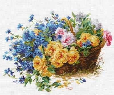2-27 Розы и васильки - Наборы для вышивания «Алиса»