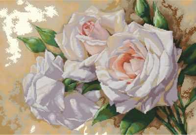 6035-14 Розовое трио (Белоснежка) - Наборы для вышивания «Белоснежка»