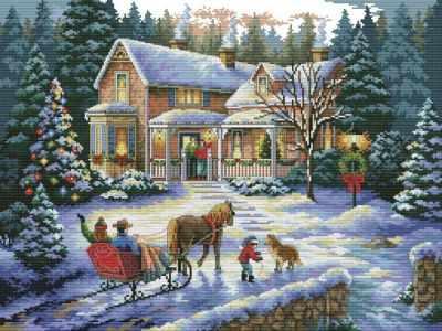 4145-14 Встреча рождества (Белоснежка) - Наборы для вышивания «Белоснежка»