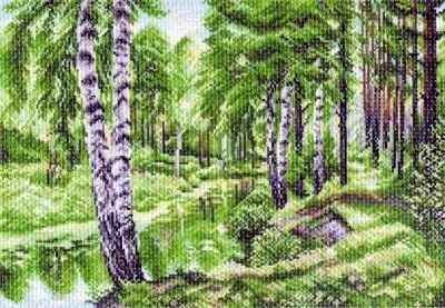 Основа для вышивания с нанесённым рисунком Матрёнин Посад 1228 Летний пейзаж (МП) основа для вышивания с нанесённым рисунком матрёнин посад 950 восточные тайны мп