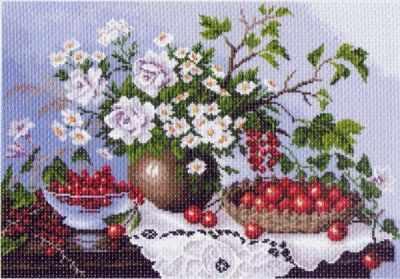 Основа для вышивания с нанесённым рисунком Матрёнин Посад 1232 Натюрморт с ягодами (МП) основа для вышивания с нанесённым рисунком матрёнин посад 950 восточные тайны мп