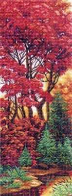1357 Багрянец (МП) - Рисунок на ткани «Матрёнин посад» (канва с рисунком)