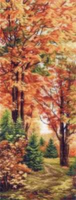 1362 Осенняя пора (МП) - Рисунок на ткани «Матрёнин посад» (канва с рисунком)