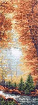 1364 Золотая осень (МП) - Рисунок на ткани «Матрёнин посад» (канва с рисунком)
