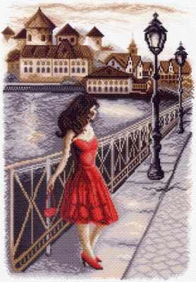 Основа для вышивания с нанесённым рисунком Матрёнин Посад 1451 Вечер на набережной - рисунок на канве (МП)