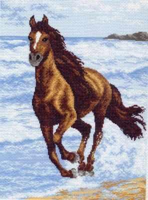 Основа для вышивания с нанесённым рисунком Матрёнин Посад 587 Бегущий по волнам (МП)
