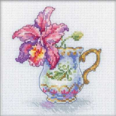 EH305 Чашка и орхидея