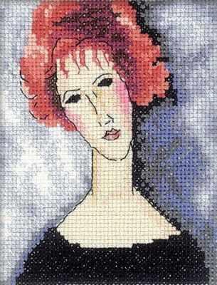 EH335 Девушка с рыжими волосами