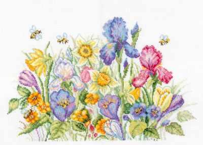 M095 Садовые цветы