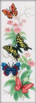 Набор для вышивания РТО M146 Бабочки и цветы