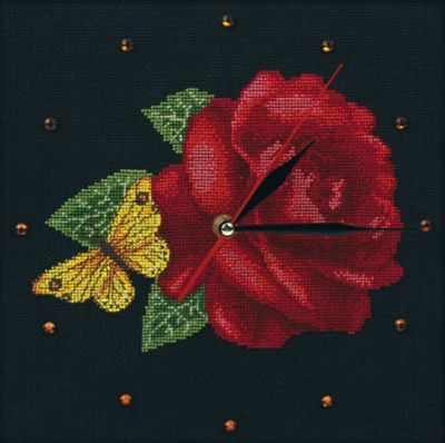 Набор для вышивания РТО M40008 Часы - Время для роз