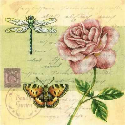 Фото - Набор для вышивания РТО M70016 Почтовая открытка - Роза почтовая открытка tenerife garachico испания конец хх века