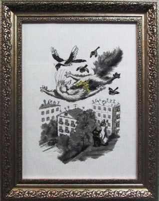 Купить со скидкой 1034 Летящий кот (Alisena)