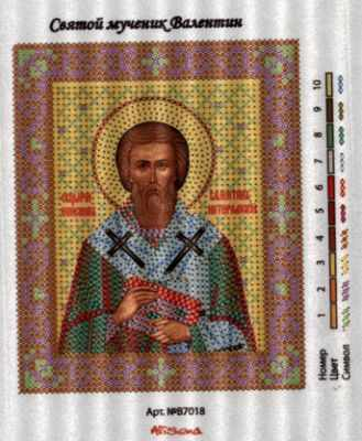 В7018 Св. Валентин  рисунок на канве (Alisena) - Атлас с рисунком «Alisena»