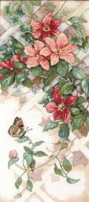 13686 DMS Бабочки и клематисы