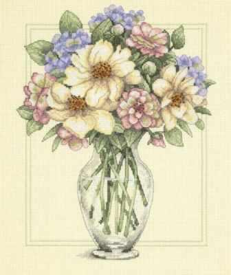 Набор для вышивания Dimensions 35228-DMS Цветы в высокой вазе