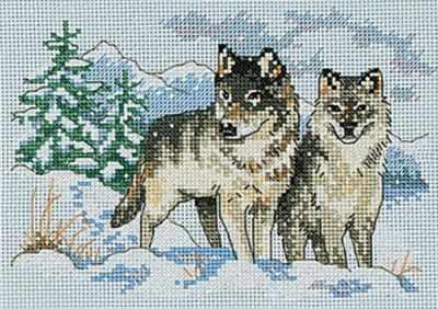 Набор для вышивания Dimensions 6800-DMS Пара волков