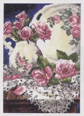 Набор для вышивания Dimensions 6929-DMS Розы и кружева