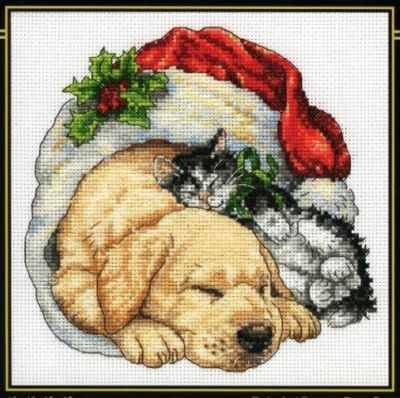 Набор для вышивания Dimensions 8826-DMS Christmas Morning Pets набор для вышивания dimensions 35267 dms morning flight