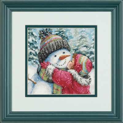 8833-DMS A Kiss for Snowman