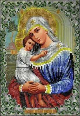 Набор для вышивания иконы Вышиваем бисером L-73 Икона Божией Матери