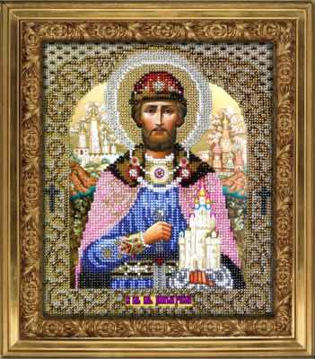 Набор для вышивания иконы Вышиваем бисером L-50 Святой Дмитрий Донской набор для вышивания иконы вышиваем бисером l 68 святой пантелеймон целитель