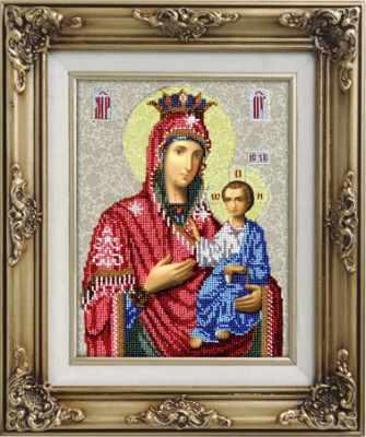 Набор для вышивания иконы Вышиваем бисером L-55 Иверская Икона Божией Матери