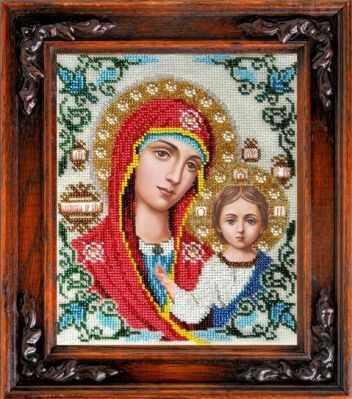 Набор для вышивания иконы Вышиваем бисером L-4 Казанская Икона Божьей Матери
