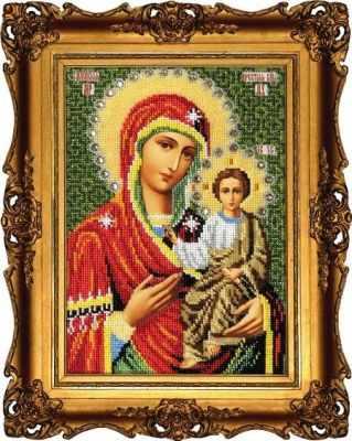 Набор для вышивания иконы Вышиваем бисером L-109 Смоленская икона Божией Матери