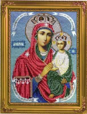 Набор для вышивания иконы Вышиваем бисером L-81 Икона Божией Матери