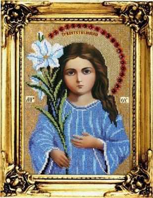 Набор для вышивания иконы Вышиваем бисером L-108 Трилетствующая икона Божией Матери