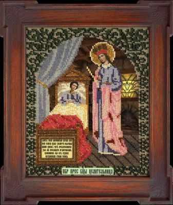 Набор для вышивания иконы Вышиваем бисером L-77 Икона Божией Матери Целительница