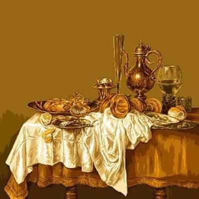 Набор для вышивания Goblenset 0569 Завтрак с омарами