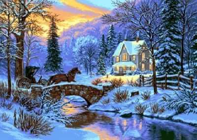 Набор для вышивания Goblenset 0773 Christmas Eve