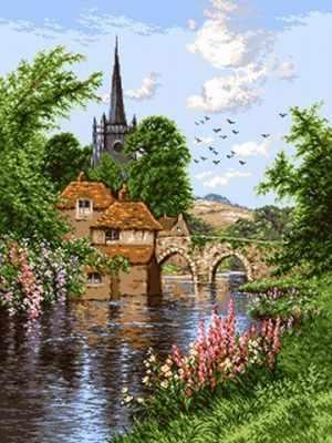 Набор для вышивания Goblenset 0870 Английское озеро (English lanscape)