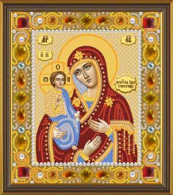 Набор для вышивания иконы Nova Sloboda Д 6007 Божия Матерь Троеручица