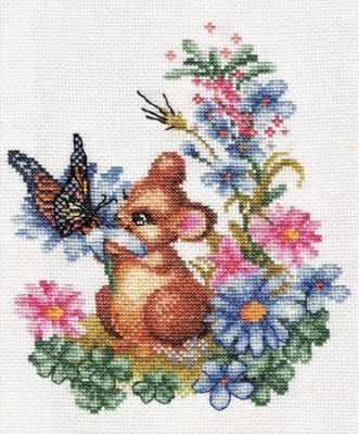 Набор для вышивания Panna D-0274 Любопытный мышонок
