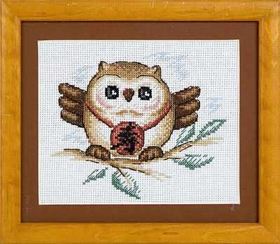 Фото - Набор для вышивания Panna I-0592 Сова (мудрость и долголетие) сова и крест