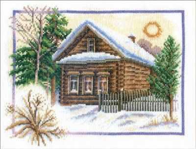 Фото - Набор для вышивания Panna PS-0333 Зима в деревне набор для вышивания panna ps 1615 осенний венок